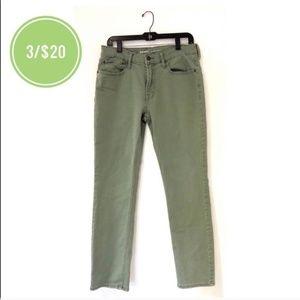 3/$20 Old Navy Olive Green Denim Slim Jeans 32x30